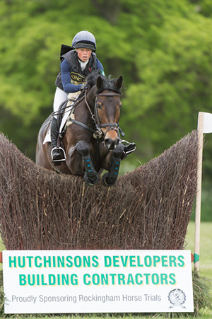 Rosalind Canter Riding  Cekatinka in the cross country phase of the CIC Two Star at the Rockingham International Horse Trials 2015