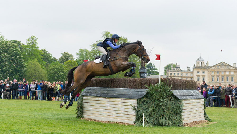Rosalind Canter (GBR) riding Allstar B in the Cross Country phase of the 2017 Mitsubishi Motors  Badminton Horse Trials
